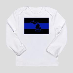 Michigan Thin Blue Line Long Sleeve Infant T-Shirt