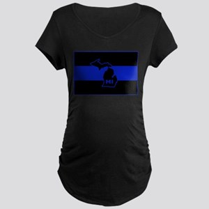 Michigan Thin Blue Line Maternity Dark T-Shirt