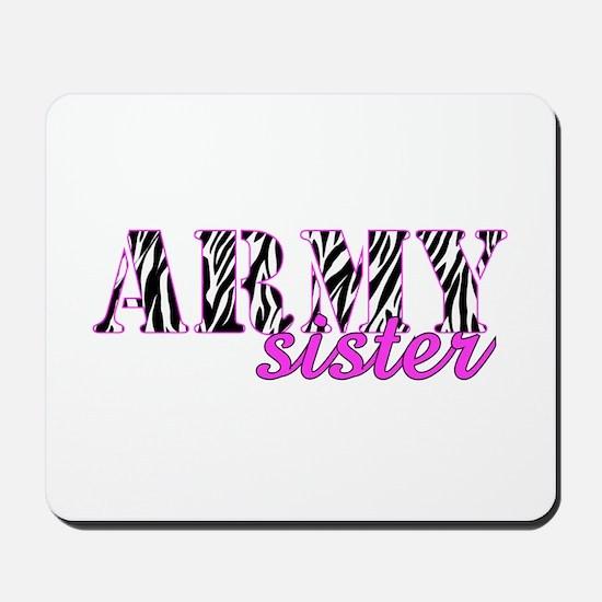 Army Sister Zebra Mousepad