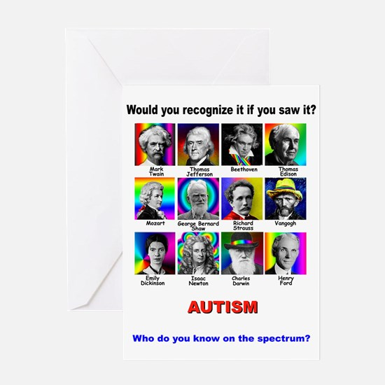 autism cards Greeting Cards