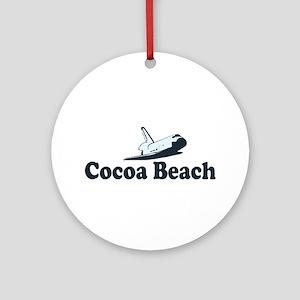 Cocoa Beach - Space Shuttle Design. Ornament (Roun