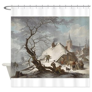 Winter Scene Shower Curtains