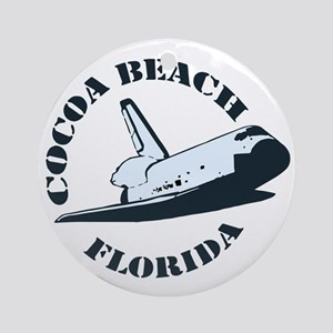 Cocoa Beach - Space Shuttle Design. Ornament (Roun