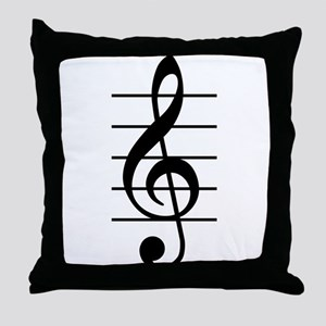 G clef Throw Pillow