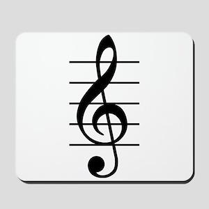 G clef Mousepad