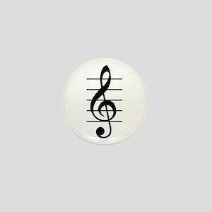 G clef Mini Button