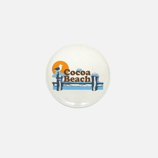 Cocoa Beach - Pier Design. Mini Button