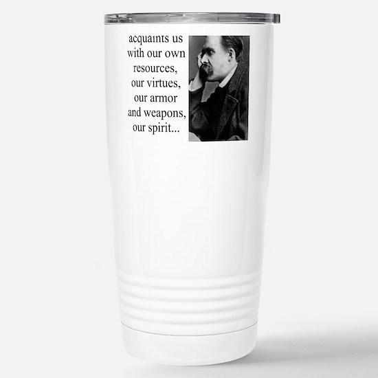 Danger Alone Acquaints Us - Nietzsche Mugs