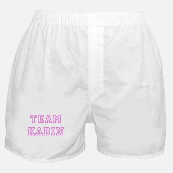 Pink team Kadin Boxer Shorts