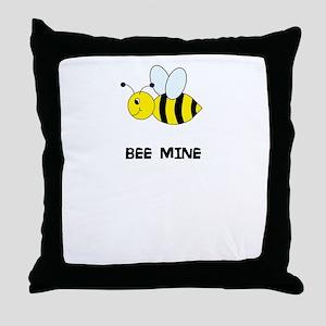 Bee Mine Design Throw Pillow