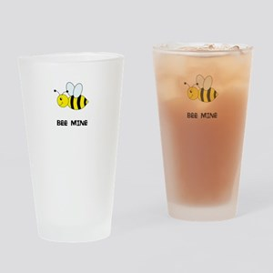 Bee Mine Design Drinking Glass