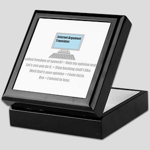 Internet Argument Translator Keepsake Box