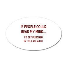 Read My Mind 22x14 Oval Wall Peel