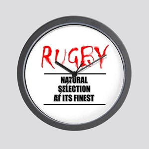 Rugby Natural Selection Wall Clock
