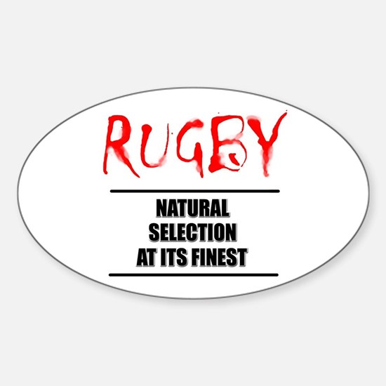 Rugby Natural Selection Sticker (Oval)