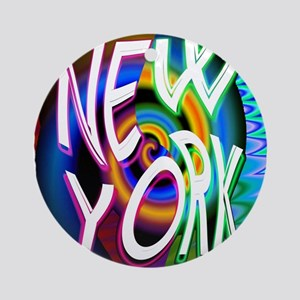 new york art illustration Ornament (Round)
