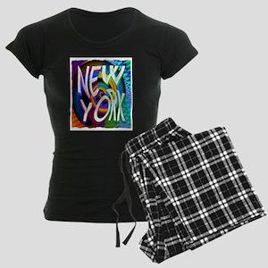 new york art illustration Women's Dark Pajamas