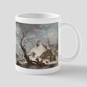Painting of a Winter Scene Mug
