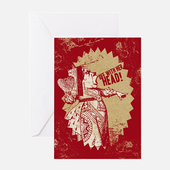 Red Queen Off With Her Head Greeting Card