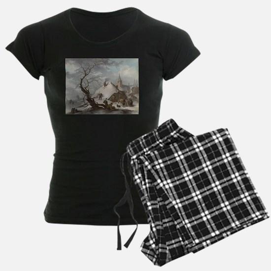 Painting of a Winter Scene Pajamas
