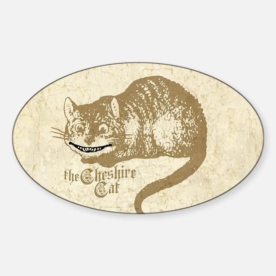 Cheshire Cat Sticker (Oval)