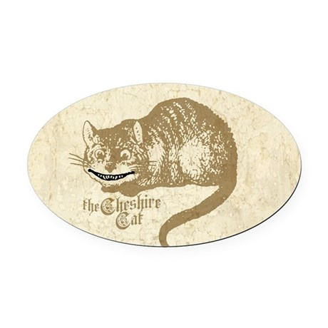 Cheshire Cat Oval Car Magnet