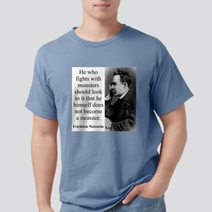 He Who Fights With Monsters - Nietzsche Mens Comfo
