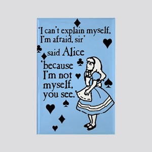 Alice Not Myself Rectangle Magnet