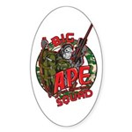 Anti Peta Big A.P.E. Squad Oval Sticker