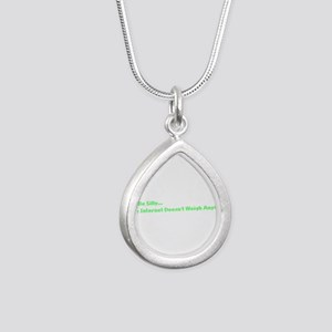 IT Crowd Internet Silver Teardrop Necklace