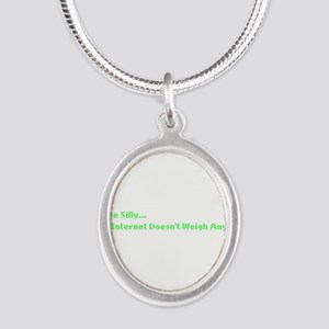 IT Crowd Internet Silver Oval Necklace