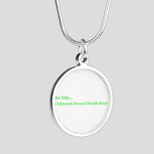 IT Crowd Internet Silver Round Necklace
