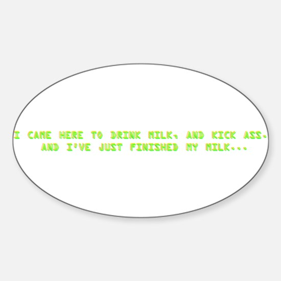 drinkmilk.png Sticker (Oval)