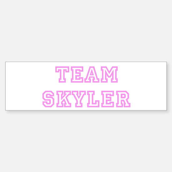 Pink team Skyler Bumper Bumper Bumper Sticker