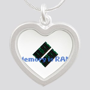 memoryisram Silver Heart Necklace
