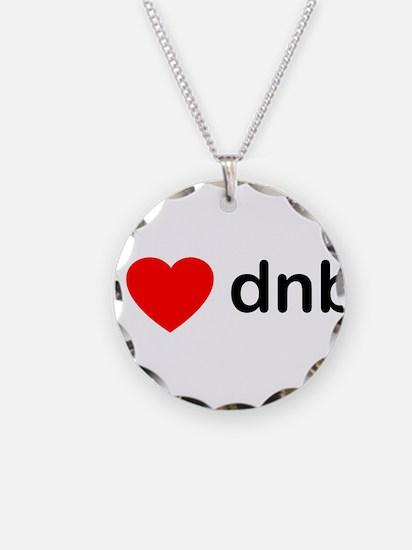 I Love DnB DJ Necklace Circle Charm