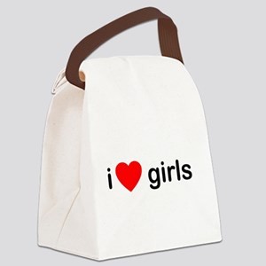 I Love Girls Canvas Lunch Bag