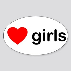 I Love Girls Sticker (Oval)