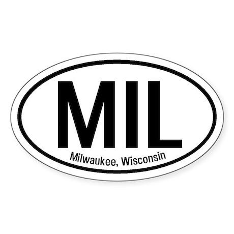 Milwaukee, Wisconsin Oval Sticker