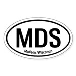 Madison, Wisconsin Oval Sticker
