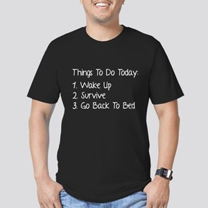 Things To Do Today Men's Fitted T-Shirt (dark)