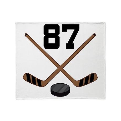 Hockey Player Number 87 Throw Blanket
