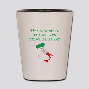 Italian Proverb After The Fact Wisdom Shot Glass