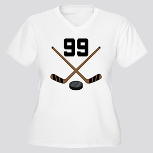 Hockey Player Number 99 Women's Plus Size V-Neck T