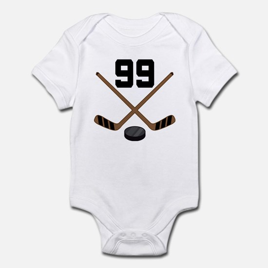Hockey Player Number 99 Infant Bodysuit
