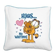 Hugs...No Waiting! Square Canvas Pillow