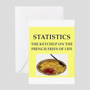 statistics Greeting Card