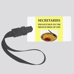 secretary Large Luggage Tag