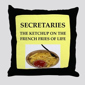 secretary Throw Pillow