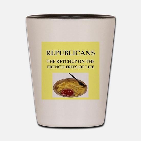 republicans Shot Glass